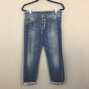 Joe's Japanese Billie Crop Boyfriend Jeans Sz 27